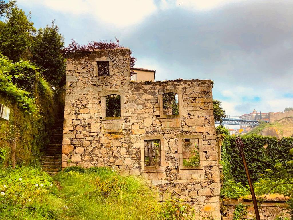 deteriorating stone house