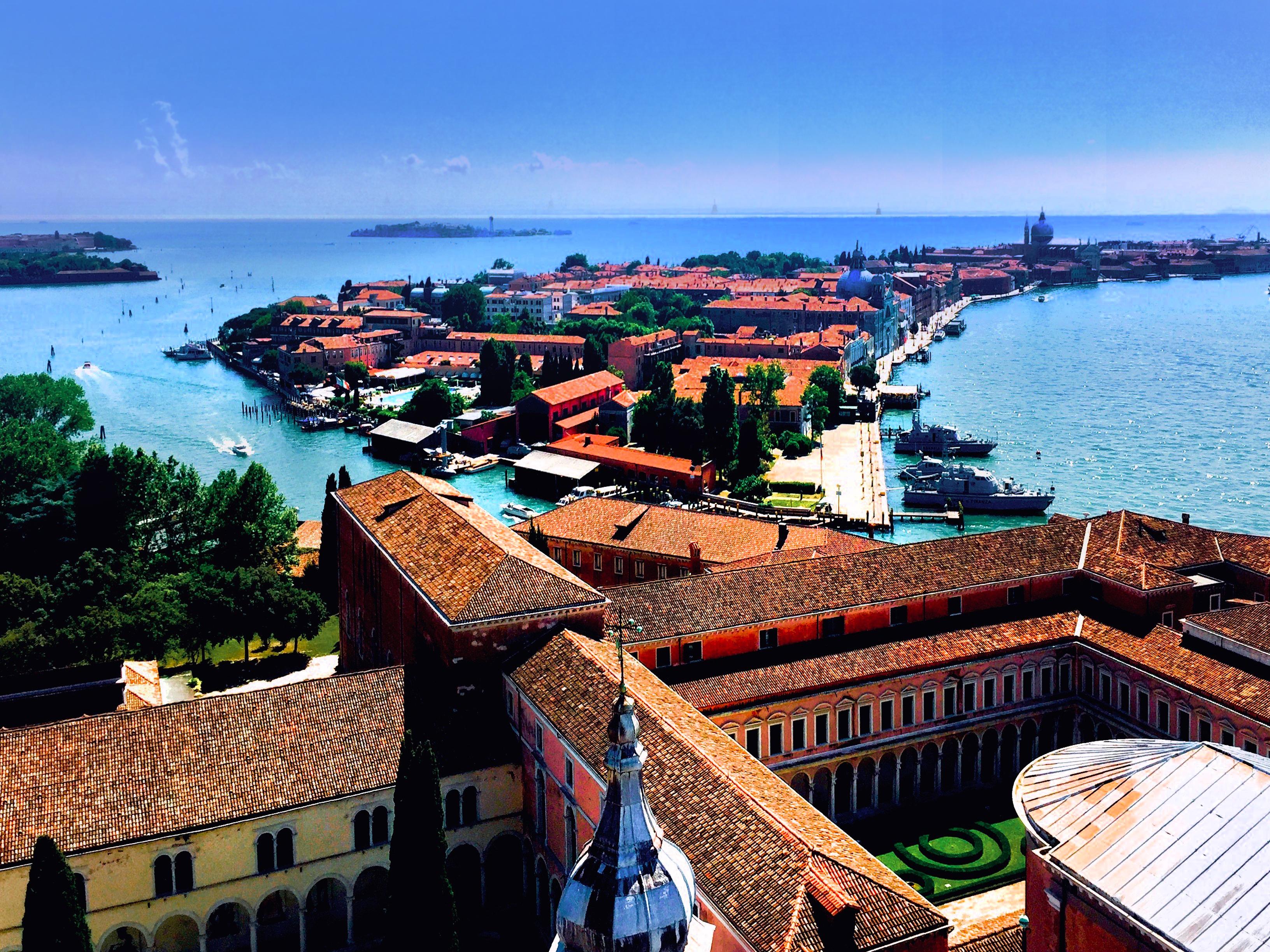 Aerial Photo Above Giudecca, Venice