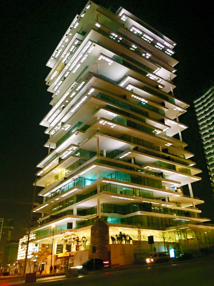 Beirut terraces at night