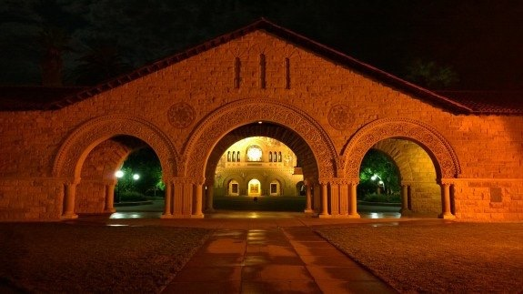 Three Arches at the entrance to the Stanford Quad