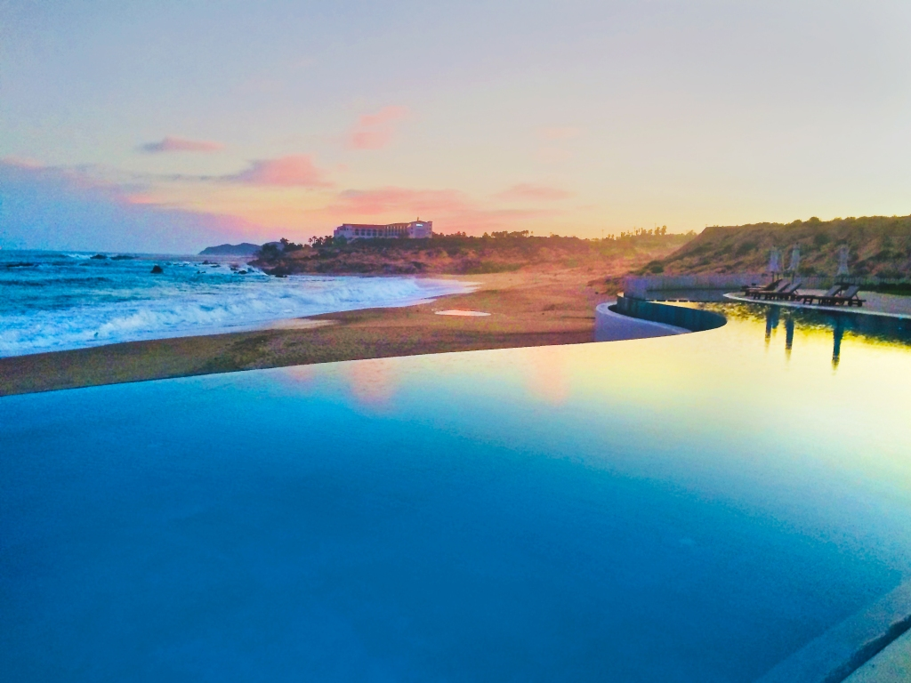 Infinity Pool at the Marquis Resort at sunset