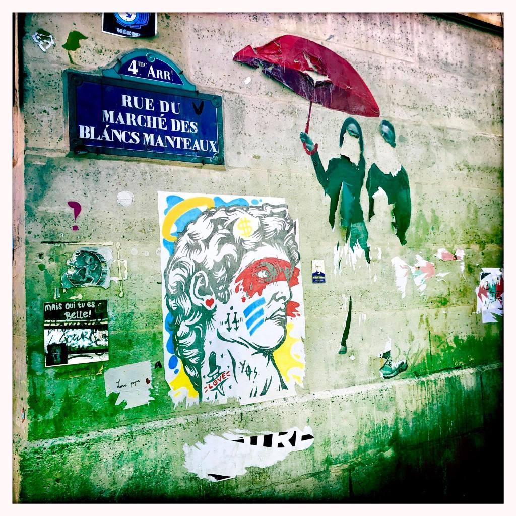 Marais Street Art Paste ups